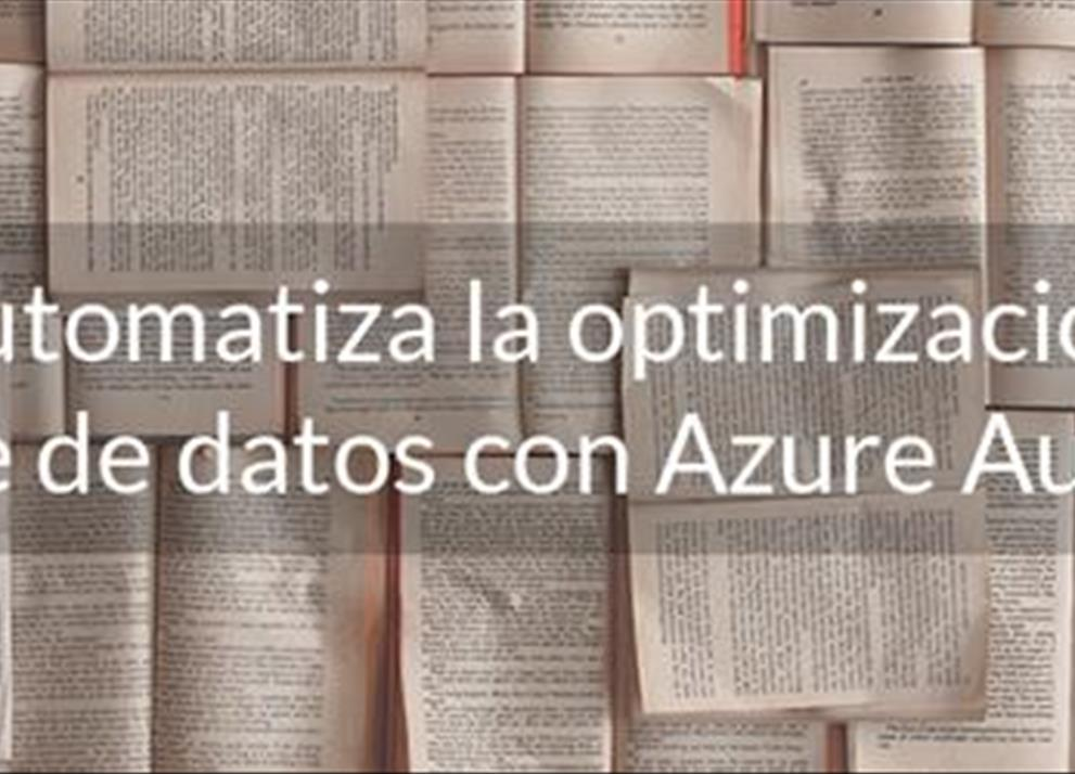 Automatiza la optimización de tu base de datos con Azure Automation