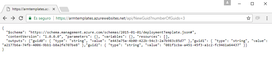 Providing a GUID function in Azure Resource Manager