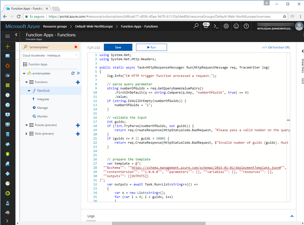 Providing a GUID function in Azure Resource Manager templates with