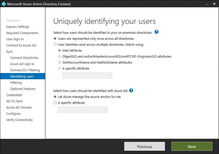 identificación única de usuarios